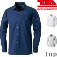 作業服寅壱作業着1022-125ワークシャツ綿100%M-LL(春夏用)