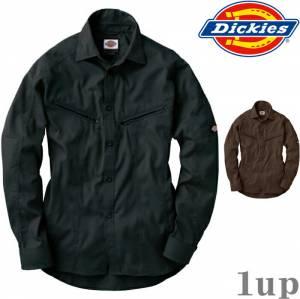 Dickies作業服作業着D-1088長袖シャツ「M-3L」(年間)